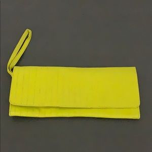 Authentic Vtg Barney's New York leather clutch